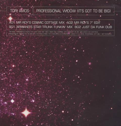 "Tori Amos Professional Widow (It's Got To Be Big) 12"" vinyl single (12 inch record / Maxi-single) UK TOR12PR78683"