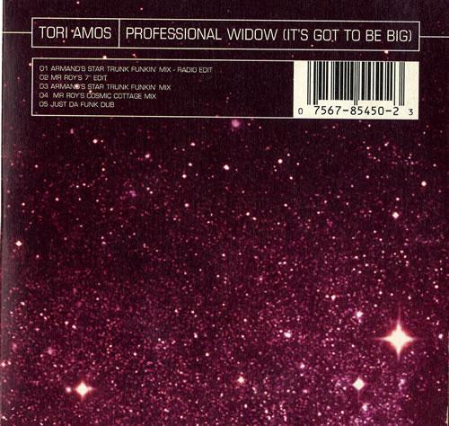"Tori Amos Professional Widow - Wallet CD single (CD5 / 5"") German TORC5PR77820"
