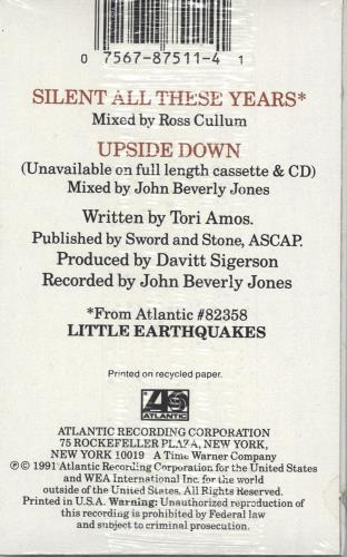 Tori Amos Silent All These Years cassette single US TORCSSI76700