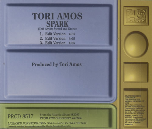 Tori Amos Spark Single