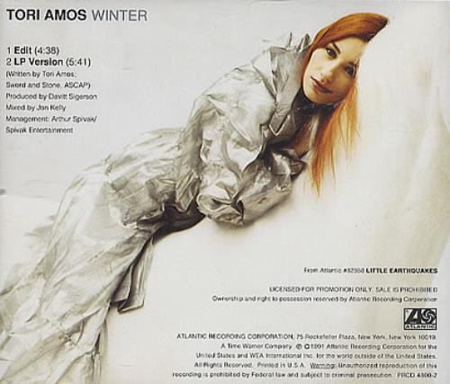 "Tori Amos Winter CD single (CD5 / 5"") US TORC5WI11913"