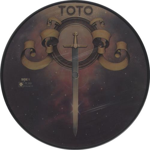 """Toto Hold The Line 7"""" vinyl picture disc 7 inch picture disc single US TOT7PHO662281"""