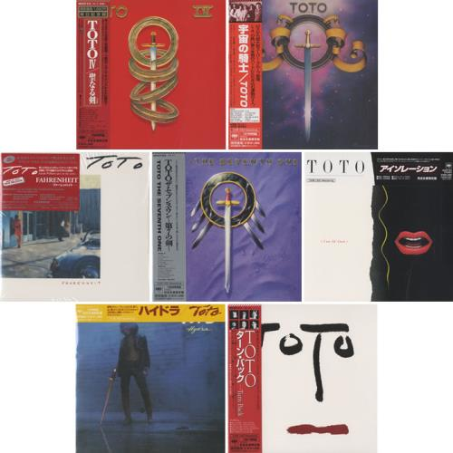 Toto The First Seven Albums - Card Sleeve Japanese CD album (CDLP