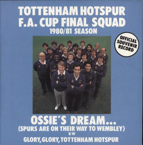 "Tottenham Hotspur FC Ossie's Dream 7"" vinyl single (7 inch record) UK SPU07OS215316"