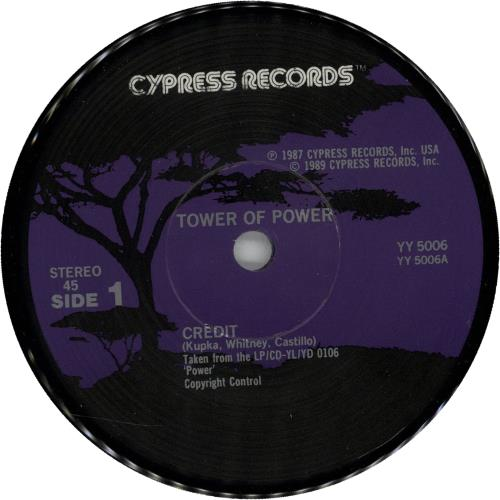 """Tower Of Power Credit 7"""" vinyl single (7 inch record) UK TO807CR644025"""