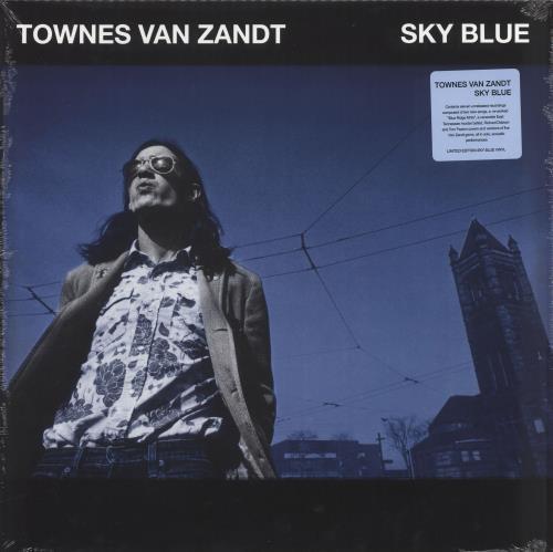 Townes Van Zandt Sky Blue - Blue Vinyl - Sealed vinyl LP album (LP record) US TVZLPSK715848