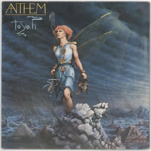 Toyah Anthem + Lyric insert vinyl LP album (LP record) UK TYHLPAN677372