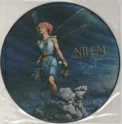 Toyah Anthem picture disc LP (vinyl picture disc album) UK TYHPDAN399010
