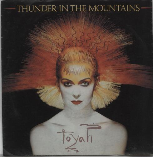 """Toyah Thunder In The Mountains 7"""" vinyl single (7 inch record) Dutch TYH07TH671921"""