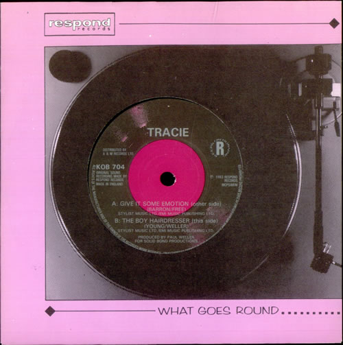"""Tracie Give It Some Emotion 7"""" vinyl single (7 inch record) UK TAC07GI520804"""