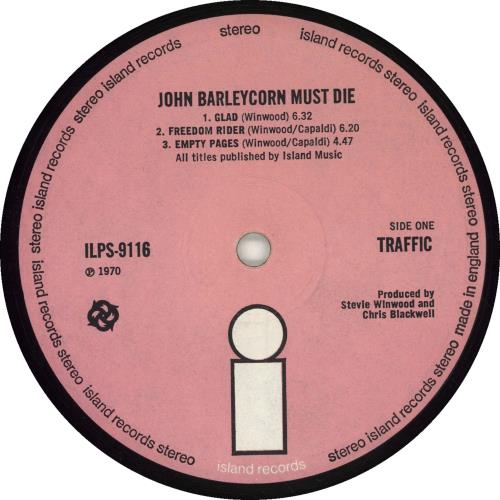Traffic John Barleycorn Must Die - 1st - Rough - VG vinyl LP album (LP record) UK TRFLPJO598907