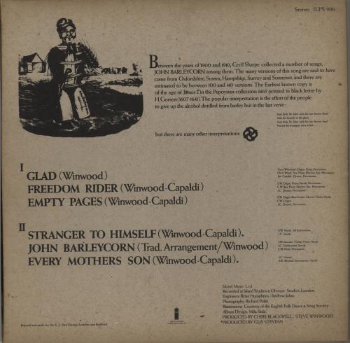 Traffic John Barleycorn Must Die - 1st - Smooth - VG+/EX- vinyl LP album (LP record) UK TRFLPJO563554