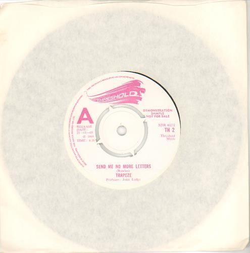 "Trapeze Send Me No More Letters - A Label 7"" vinyl single (7 inch record) UK TPZ07SE106924"