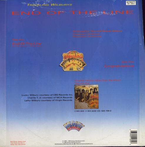 "Traveling Wilburys End Of The Line 12"" vinyl single (12 inch record / Maxi-single) UK TRV12EN772405"