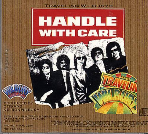 "Traveling Wilburys Handle With Care CD single (CD5 / 5"") US TRVC5HA54305"