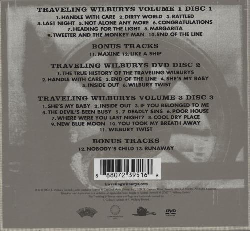 Traveling Wilburys The Traveling Wilburys Collection (Third Edition) 3-disc CD/DVD Set UK TRV3DTH755865