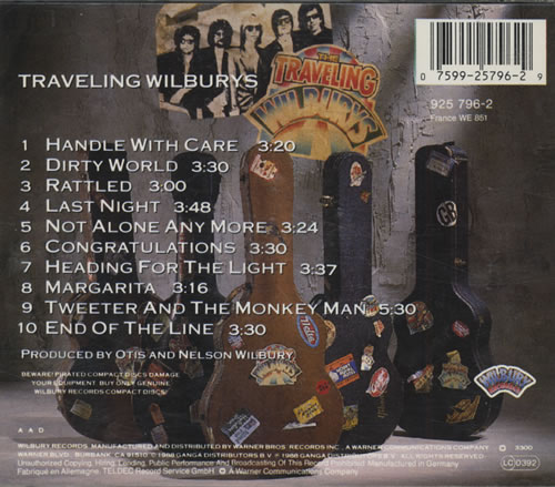 Traveling Wilburys Vol 1 German Cd Album Cdlp 127759