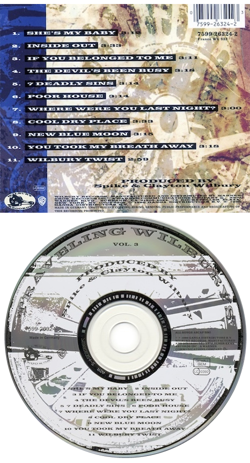 Traveling Wilburys Volume 3 CD album (CDLP) German TRVCDVO122906