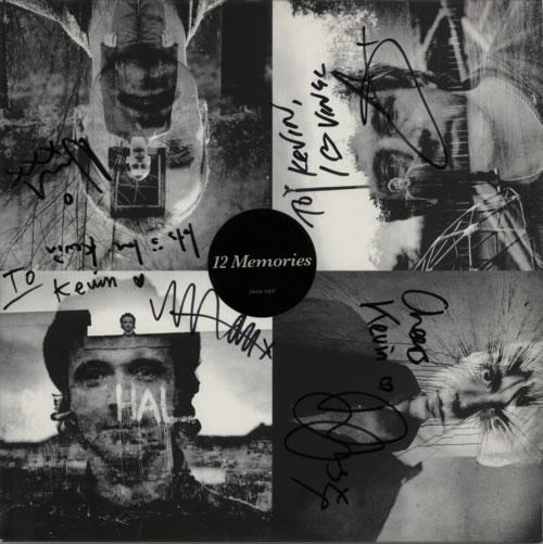 Travis (90s) 12 Memories - Autographed vinyl LP album (LP record) UK RVSLPME623800
