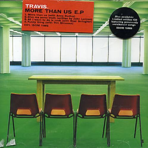 """Travis (90s) More Than Us EP - Part 1 CD single (CD5 / 5"""") UK RVSC5MO159108"""