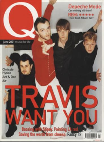 Travis (90s) Q - June 2001 magazine UK RVSMAQJ343321