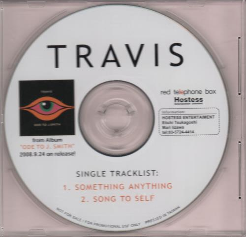 "Travis (90s) Something Anything + PR CD single (CD5 / 5"") Japanese RVSC5SO647058"