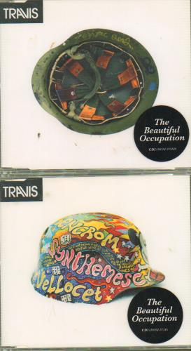 Travis (90s) The Beautiful Occupation 2-CD single set (Double CD single) UK RVS2STH674251