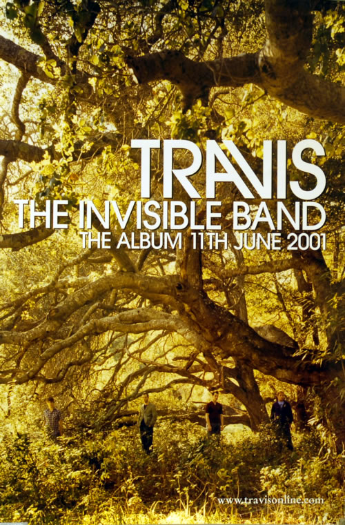 Travis (90s) The Invisible Band poster UK RVSPOTH615767