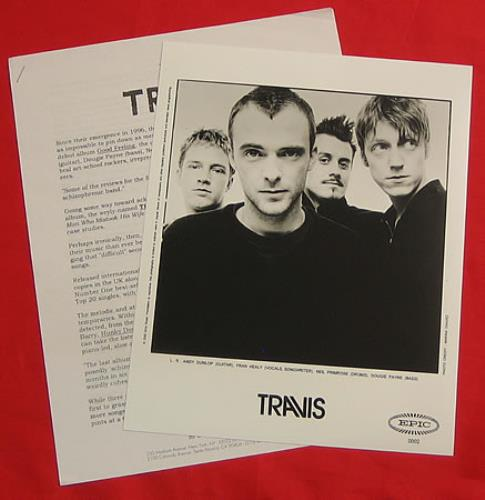 Travis (90s) The Man Who media press pack US RVSPPTH156004