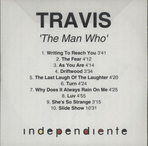 Travis (90s) The Man Who CD-R acetate UK RVSCRTH168000