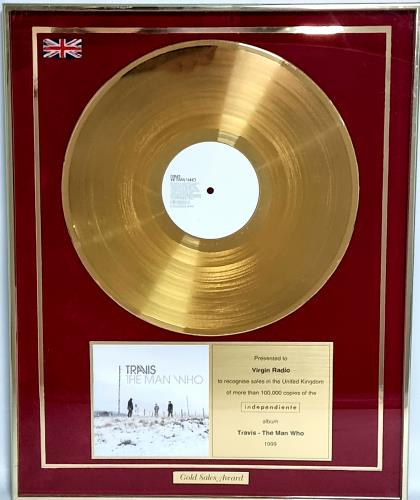Travis (90s) The Man Who award disc UK RVSAWTH715432