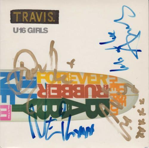 "Travis (90s) U16 Girls - Autographed 7"" vinyl single (7 inch record) UK RVS07UG750286"