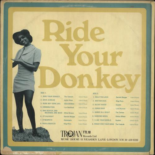 Trojan Records Ride Your Donkey - VG vinyl LP album (LP record) UK T06LPRI728420