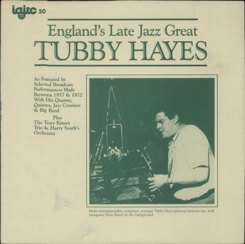 Tubby Hayes England's Late Jazz Great vinyl LP album (LP record) US TH-LPEN296851