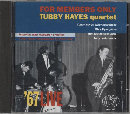 Tubby Hayes For Members Only CD album (CDLP) UK TH-CDFO741995
