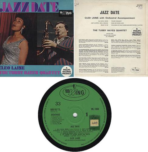 Tubby Hayes Jazz Date vinyl LP album (LP record) UK TH-LPJA325587