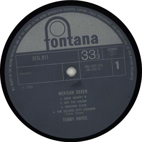 Tubby Hayes Mexican Green - 1st - VG vinyl LP album (LP record) UK TH-LPME660486