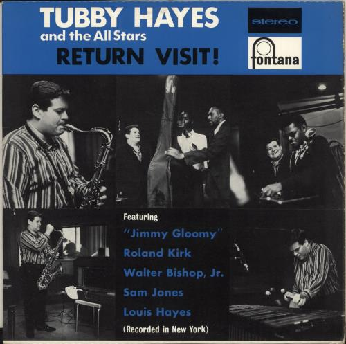 Tubby Hayes Return Visit! - 1st vinyl LP album (LP record) UK TH-LPRE742779