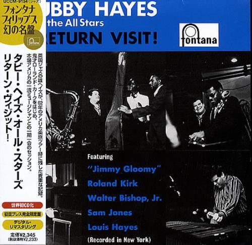 Tubby Hayes Return Visit! CD album (CDLP) Japanese TH-CDRE365002