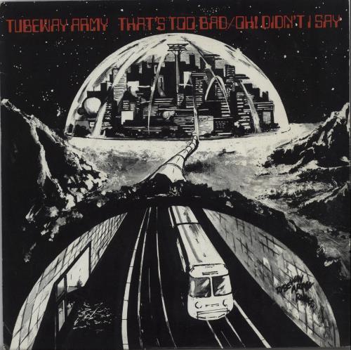 "Tubeway Army That's Too Bad + Sleeve 7"" vinyl single (7 inch record) UK TUB07TH265380"