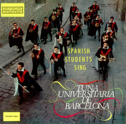 Tuna Universitaria De Barcelona Spanish Students Sing vinyl LP album (LP record) US UIBLPSP457197