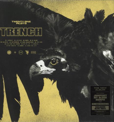 Twenty One Pilots Trench - Olive Vinyl 2-LP vinyl record set (Double Album) UK Y2Z2LTR705843