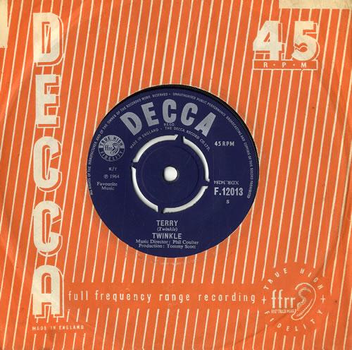 """Twinkle Terry - 1st 7"""" vinyl single (7 inch record) UK T3Z07TE555874"""