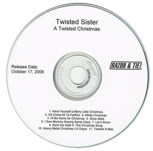 Twisted Sister A Twisted Christmas CD-R acetate US TWSCRAT393793