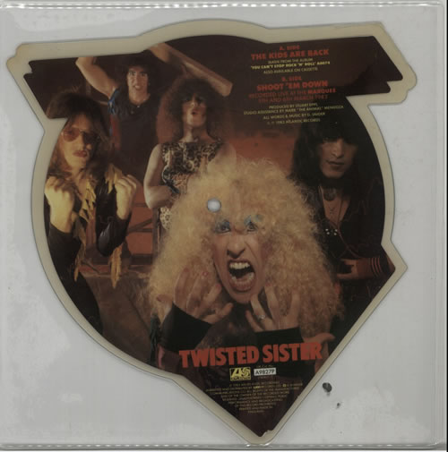 Twisted Sister The Kids Are Back shaped picture disc (picture disc vinyl record) UK TWSSHTH169177