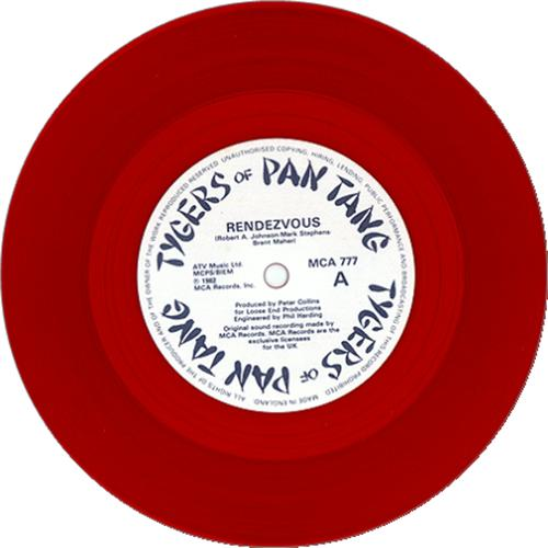 "Tygers Of Pan Tang Rendezvous - Red Vinyl 7"" vinyl single (7 inch record) UK TYG07RE16937"