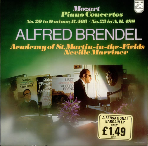 The Academy Of St. Martin-In-The-Fields Piano Concerto No. 20 in D minor, K.466 & No. 23 in A, K.488 vinyl LP album (LP record) Dutch U0ELPPI535101