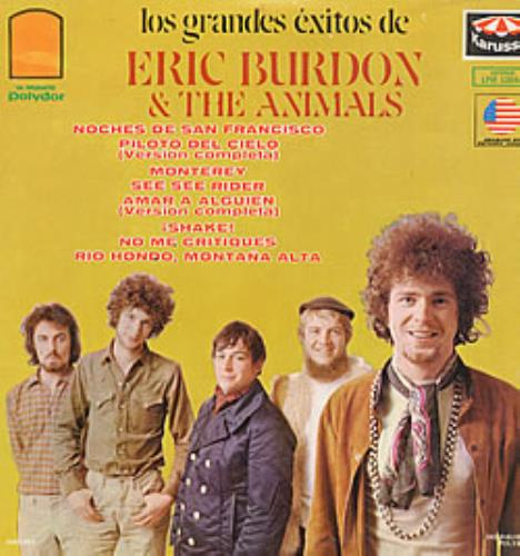 The Animals Los Grandes Exotos De Eric Burdon & The Animals vinyl LP album (LP record) Mexican ANMLPLO229729