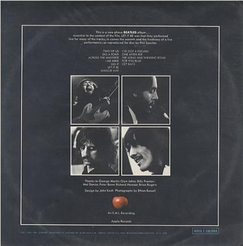 The Beatles Let It Be - MONO - EX vinyl LP album (LP record) Brazilian BTLLPLE352969