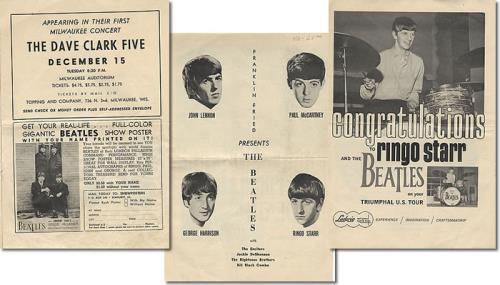 The Beatles Milwaukee Auditorium tour programme US BTLTRMI395870